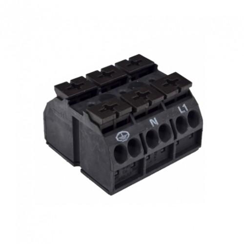 Корпусные клеммные колодки с креплением, 2;3-контактные, 4 мм2
