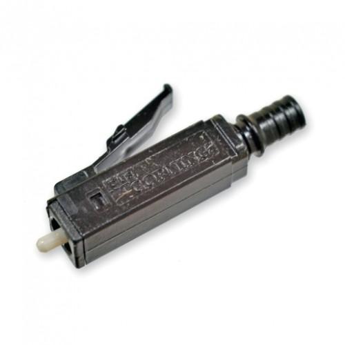Коннектор Epoxy & Polish LC, MM (OM4+/OM4/OM3/OM2), черный