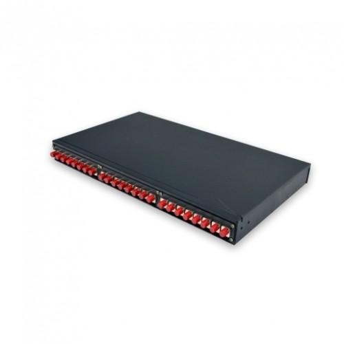 Патч-панель, 24 адаптеров FC в комплекте, 1U, не выдвижная