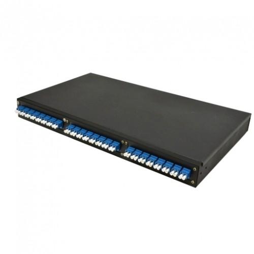 Патч-панель 48 портов, 24 адаптера LC Duplex в комплекте, 1U, не выдвижная