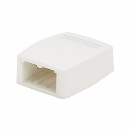 Коробка внешняя на 2 модуля Mini-Com, белоснежная