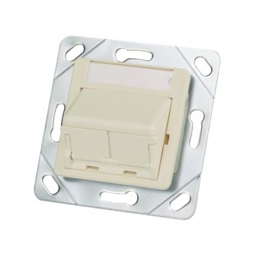 Адаптер 50×50 на 2 модуля Mini-Com с кр. от пыли