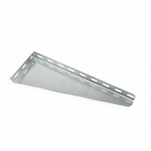 Кронштейн настенный угловой для лотка 300 мм, легкий, оцинкованный