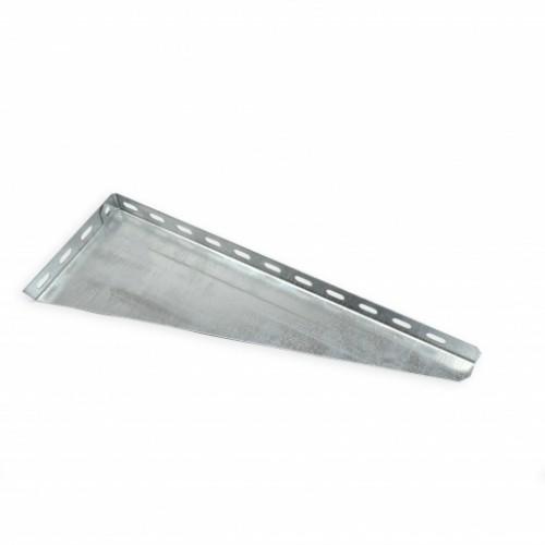 Кронштейн настенный угловой для лотка 400 мм, легкий, оцинкованный