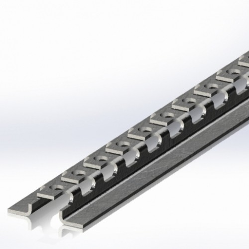 Швеллер 1,25 м для сетчатого лотка, 2,0 мм, оцинкованный