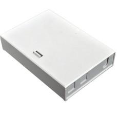 Бокс настенный на 4 SC Simplex адаптера, 152x105x32 мм, (ввод, гильзы, держатель гильз), Orient