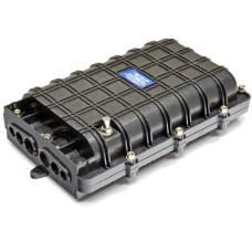 Муфта универсальная, 6 механических кабельных ввода, 4 сплайс-касcеты, 48 сплайс-протекторов