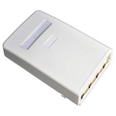 Розетка 4 порт. настенная (1хST/FC, 2xSC Simplex/LC Duplex, 1xRJ45) без ВО адаптеров