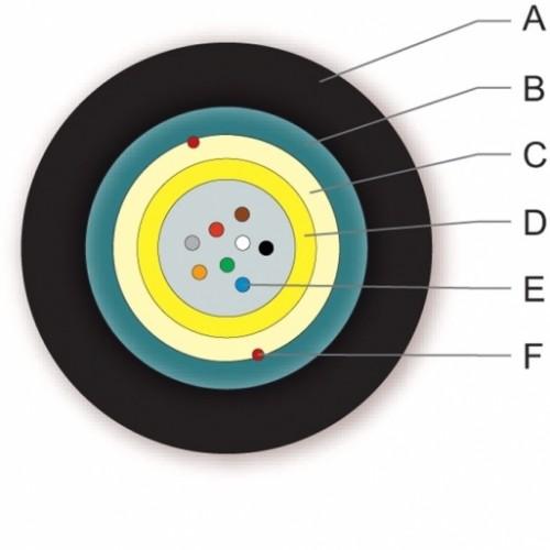 ВО кабель универсальный, гофроброня , A-DQ(ZN)(SR)H 1x8E9/125 OS2, FRNC/LSZH