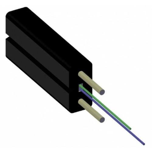 ВО кабель 2E9/125 Drop FTTH легкий (100N), G657A, внутренний, LSZH, силовой элемент – кевлар