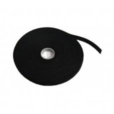 Стяжка-липучка, 12 мм x 10 м, черная