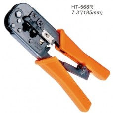 Инструмент для обжимания коннекторов RJ12, RJ45, с трещеткой, Hanlong
