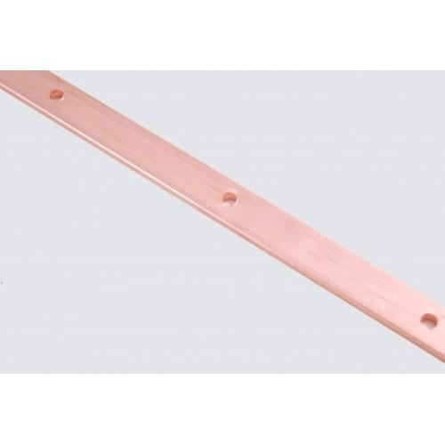 Шина заземления медная 20х5мм (1м), d6.5мм, шаг 100 мм