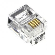 Коннектор телефонный RJ12, 6p4c