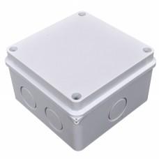 Коробка распределительная, наружная, пластиковая 110х110; 6 вводов IP55, без клем.