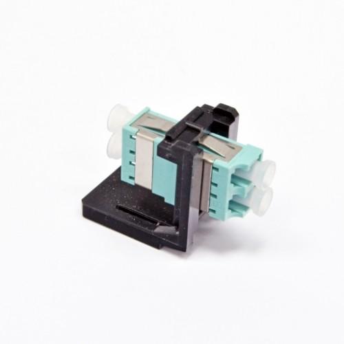 Модуль LANC LC Duplex MM (одномод),металлическая втулка, для установки в розетку/патч-панель, (OM3/4)