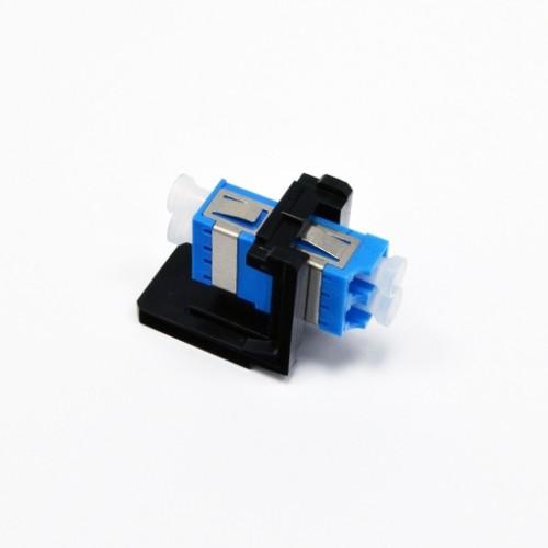 Модуль LANC LC Duplex SM (одномод), металлическая втулка, для установки в розетку/патч-панель