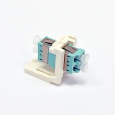 Модуль LANS LC Duplex MM (одномод) для установки в розетку/патч-панель,Aqua (OM3/4)