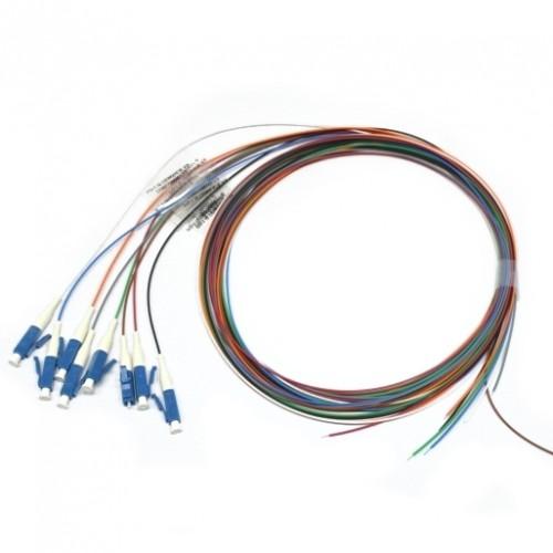 Набор цветных пигтейлов LC/UPC 1.5 m, SM, Easy strip, для 8 волокон, (Bl,Or,Gn,Br,Wh,Gr,Rd,Bk)