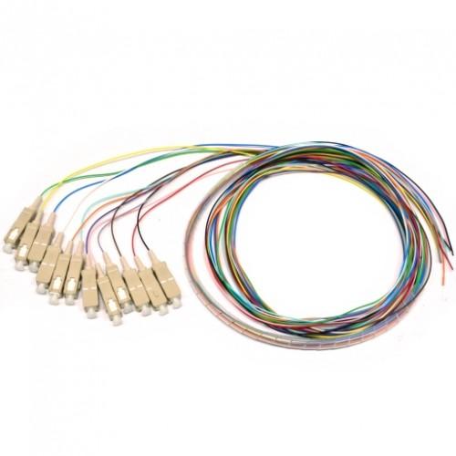 Набор цветных пигтейлов SC/UPC 1.5 m, MM (OM3), Easy strip, для 12 волокон, (Bl,Or,Gn,Br,Wh,Gr,Rd,Bk,Yl,Vl,Pk,Tq)