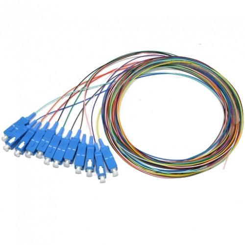 Набор цветных пигтейлов SC/UPC 1.5 m, SM (OM3), Easy strip, для 12 волокон, (Bl,Or,Gn,Br,Wh,Gr,Rd,Bk,Yl,Vl,Pk,Tq)