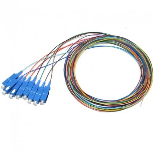 Набор цветных пигтейлов SC/UPC 1.5 m, SM, Easy strip, для 8 волокон, (Bl,Or,Gn,Br,Wh,Gr,Rd,Bk)