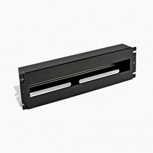 Панель 19'' 3U c DIN-рейкой, для 24-х автоматических выключателей, черная