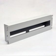 Панель 19'' 3U c DIN-рейкой, для 24-х автоматических выключателей, серая