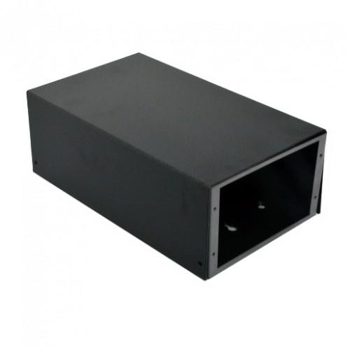 ВО коробка для ВО соединений (4 х 16 SC/FC) без лицевой панели, пустая, черная.