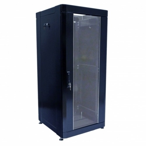 Шкаф 19″ 24U, 610х675 мм (Ш*Г), усиленный, черный