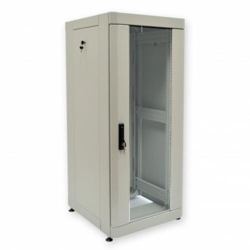 """Шкаф 19"""" 28U, 610х675 мм (Ш*Г), усиленный, серый"""