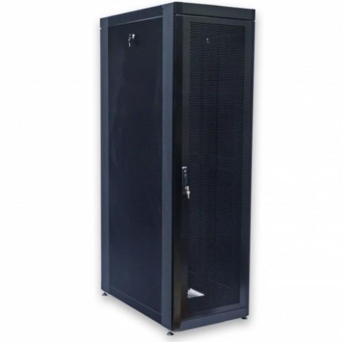 Шкаф 19″ 33U, 610х1055 мм (Ш*Г), черный, перфорированные двери