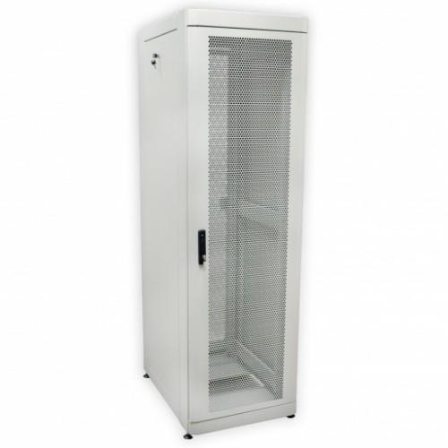 Шкаф 19″ 42U, 610х1055 мм (Ш*Г), серый, перфорированные двери