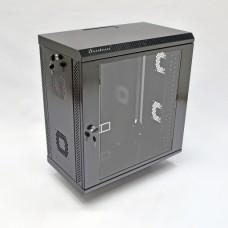 Шкаф серверный 12U, 600х350х640 мм (Ш*Г*В), акриловое стекло, черный