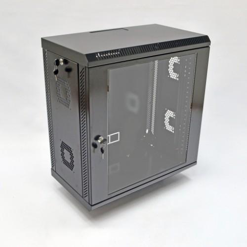 Шкаф 12U, 600х350х640 мм (Ш*Г*В), акриловое стекло, черный