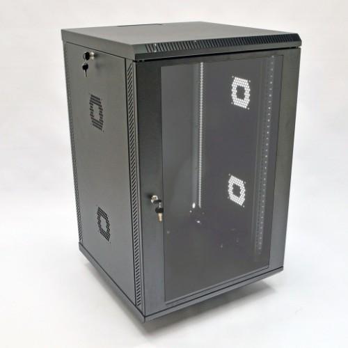 Шкаф 19″, 18U, 600х600х907мм (Ш*Г*В), акриловое стекло