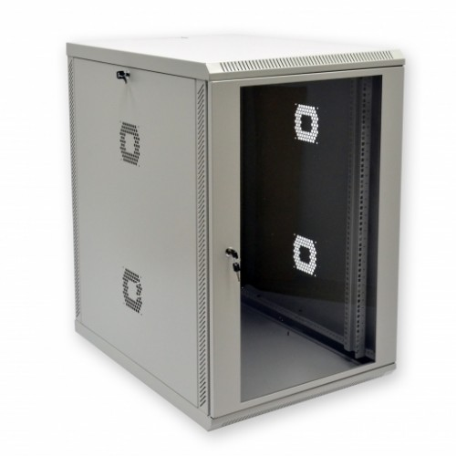 Шкаф 19″, 18U, 600х800х907мм (Ш*Г*В), акриловое стекло