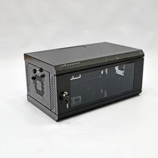 Шкаф 4U, 600х350х284 мм (Ш*Г*В), акриловое стекло, черный