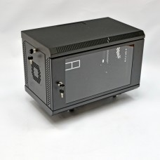 Шкаф серверный 6U, 600х350х373 мм (Ш*Г*В), акриловое стекло, черный