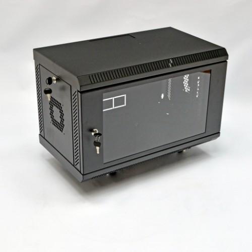 Шкаф 6U, 600х350х373 мм (Ш*Г*В), акриловое стекло, черный