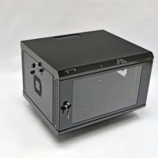 Шкаф серверный 6U, 600х500х373 мм (Ш*Г*В), акриловое стекло