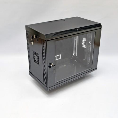 Шкаф 9U, 600х350х507 мм (Ш*Г*В), акриловое стекло, черный