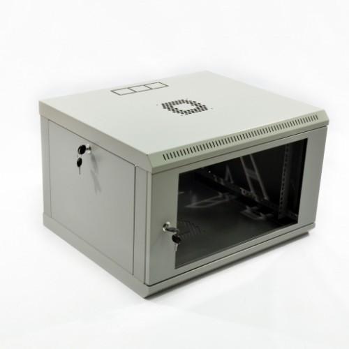 Шкаф 6U, 600х500х373 мм (Ш*Г*В), акриловое стекло
