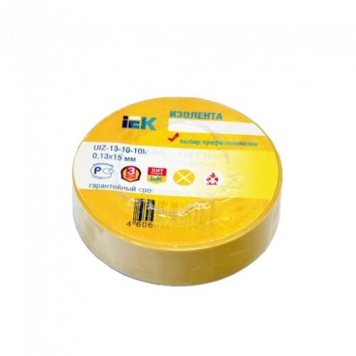 Изолента электротех. 0,13ммх19мм, 10м, Юнилайт, желтая