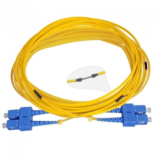 Патч-корд армированный SC/UPC-SC/UPC SM 10м Duplex