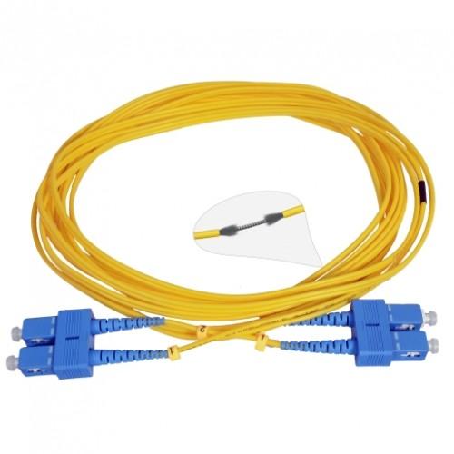 Патч-корд армированный SC/UPC-SC/UPC SM 5м Duplex