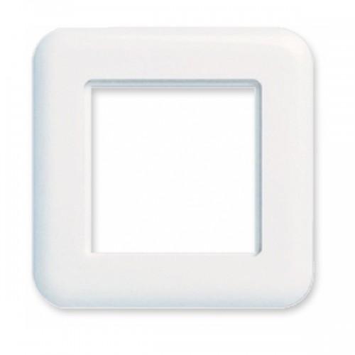 Рамка Ge style для пластин LANSape, 80х80 мм, белая, RAL9010
