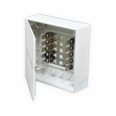 Бокс пластиковый для телефонных плинтов на 50 пар 215х215х75 мм (Ш*Г*В)