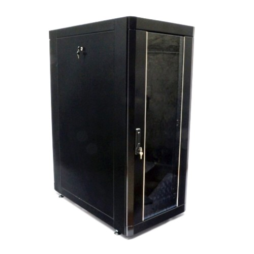 Шкаф 19″ 28U, 610х1055 мм (Ш*Г), усиленный, черный