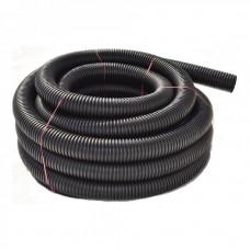 Гофротруба ПВХ D40/31.2 черная, PVC с протяжкой, 50 метров